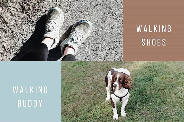Infographic on walking